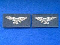 ROYAL AIR FORCE RAF EAGLES ARM BADGES SHOULDER TITLES FACING PAIR