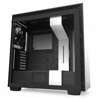 NZXT H710 White+Black ATX Mid Tower Tempered Glass Desktop Computer Gaming Case