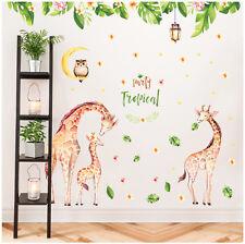 Wandtattoo Giraffe Afrika Eule Mond Dschungel Aufkleber Kind Baby Zimmer Deko