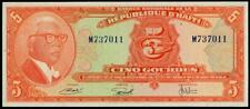 HAITI 5 GOURDES L.1919 P 202 XF++/AU  FRANCOIS DUVALIER  SCARCE BANKNOTE