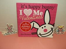 LOT 3~IT'S HAPPY BUNNY 32 VALENTINE CARDS +2 NWT KEYRINGS~ U MAKE ORIGAMI ENVEL