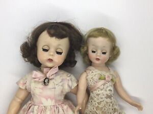 """EARLY Madame Alexander LISSY 11"""" and CISSETTE 9"""" DOLLS AND Extra Clothes Plus"""