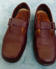 HOTTER SUNSHINE Comfort T- Bar Burgundy Leather Casual Flats size 4.5