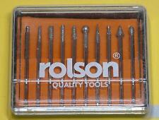 10pc Rolson Diamond Burr Set - Craft Modelling Model Repair