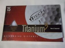 NEW Titanium 3 Cut-Proof Golf Balls Box of 15