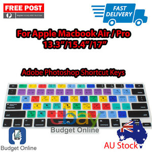 "Adobe Photoshop Keyboard Cover With Issue for Apple MacBook Pro Air 13.3"" 15"" 17"