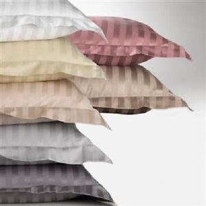All Striped Colors & Sizes Pillow Cases 1000 Thread Count 100% Egyptian Cotton