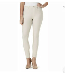 New Bandolino Women's Bella Color Leggings Faux 4 Pocket Ivory Size Small NWT
