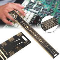"""25cm 10"""" Multifunctional PCB Ruler Measuring Tool Resistor Capacitor Chip IC"""