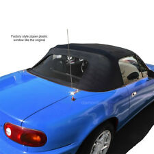 Mazda Miata Convertible Top 2 Piece Zipper Factory Style W Plastic window 89-05