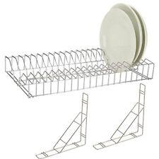 """Stainless Steel Plate Rack Holder 90cm/36"""" for Restaurant/Hotel/Pub/Kitchen/Bar"""
