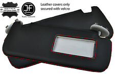 RED STITCH 2X SUN VISORS LEATHER COVERS FITS TOYOTA COROLLA 07-13 SALOON