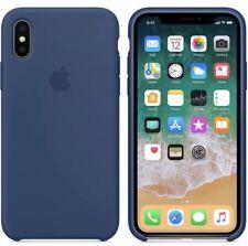 Apple iPhone X Midnight Blue Silicon Case Slim  Great Handling Original Cover