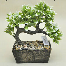 Bonsai Tree in Wooden Pot Artificial Plant Decoration for Office and Home 25 Cm