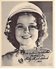 Shirley Temple Black Child Star Heidi Autograph Hand Signed 8x10 Print