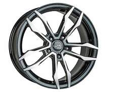 "18"" MAZDA 6 ALLOY WHEELS 5X114 BLACK POLISHED 5 STUD LOAD RATED (02>ONW)"
