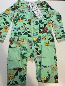 BONDS Disney Lion King Zippy Wondersuit Size 3 BNWT LIMITED EDITION Green