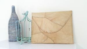 Envelope clutch purse recycled patchwork leather for women
