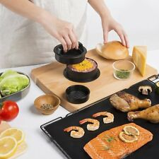 Burger Press Kit with Grill Mat,Non-Stick 3-in-1 ,Includes 50 Wax Patty Papers
