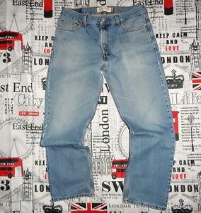 mens *W36 x L30 Levi's 505 JEANS Straight Leg Reg Fit Faded Vintage Blue Denim