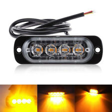 Amber 4LED Car Truck Emergency Beacon Warning Hazard Flash Strobe Light Bar 12W
