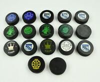 17 Vintage CAHA Miscellaneous Hockey Pucks! Knights, Kings, Rangers, Marlboros