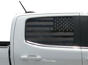 Distressed USA Flag Decal Fits Chevy Colorado GMC Canyon Crew Cab window  CC5