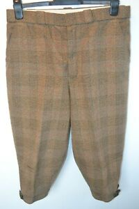 Vintage David Andrews Manchester green check shooting Breeks plus fours W 34