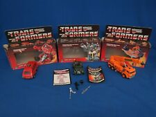 1985 Transformer Lot-3 w/Boxes Grapple, Hoond, Iron Hide Autobot As Is