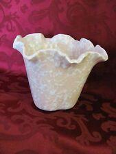 Shawnee cameo pink splatter vase planter ruffled #2510