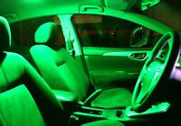 Green LED Interior Light Conversion Package for Toyota Camry XV40 2006-2011