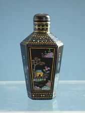 Old Inlay Black  Snuff Bottle