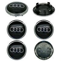 4 x Audi Alloy Wheel Centre Caps 69mm Black - OEM Fit A1 A3 A4 A5 A6 A7 Q3 Q5 Q7