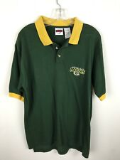 Vintage Green Bay Packers Polo Shirt M Cotton Embroidered NFL Football Mens