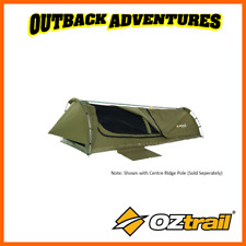 OZTRAIL SWAG MITCHELL DISCOVERY KING SINGLE KHAKI CANVAS DOME NEW MODEL SWAGS