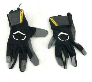 Evoshield Batting Gloves Mens Black Large Leather Nylon