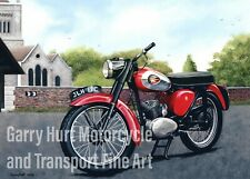 BSA Bantam D7 Motorcycle A3 size Limited Edition Print