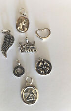 Sterling Silver Mixed Charms: 7 Pieces