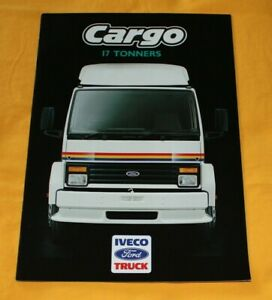 IVECO Ford Cargo 17 Tonners 1987 (GB) LKW Prospekt Truck Brochure Camion Catalog