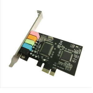 PC PCI-E8738 CMI8738 5.1 Ch 6 Channel Audio Digital Adapter PCIE Sound Card
