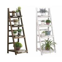 Wooden Flower Pot Plant Stand 4 Tier Display Rack Shelf Shelves Organizer Garden