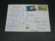 Ivory Coast 1966 postcard to germany *11052