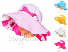 New Girls Sun a baby Kid girl Cotton Summer Floppy Cap Size 2-4-6-8 Years