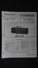 Fisher ph-w803 bf service manual original repair book stereo boombox radio