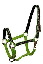 "LIME GREEN Nylon Horse Halter with ""I Love My Horse"" Overlay! NEW HORSE TACK!"