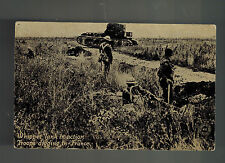 Mint Ww 1 England British Whippet Soldiers And Tank Rppc real picture Postcard