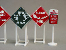 LIONEL CHRISTMAS RAILROAD SIGNS train road fastrack o gauge track rr 6-37185
