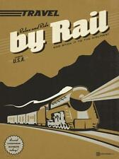 """Travel Train"", digital open ed,  Sign - Recreated 24x18"