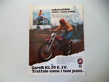 advertising Pubblicità 1974 MOTO GARELLI KL 50 E 5V