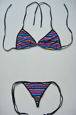 Sexy G-STRING BIKINI Multi-Coloured 2 Piece Swimming Costume Thong Underwear